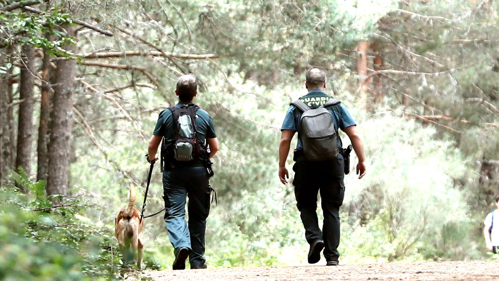 Agentes de la Guardia Civil en el dispositivo de búsqueda (Foto: EFE).