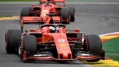 Charles Leclerc, en el GP de Bélgica. (AFP)