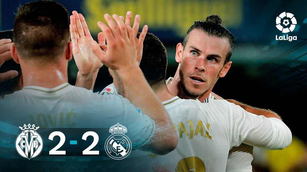 Villarreal y Real Madrid acabaron 2-2.