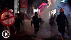 Disturbios en Hong Kong. Foto: AFP
