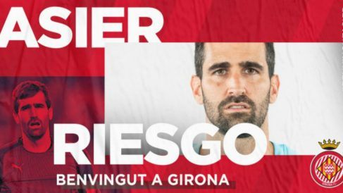 Asier Riesgo, nuevo futbolista del Girona (Girona Fútbol Club)