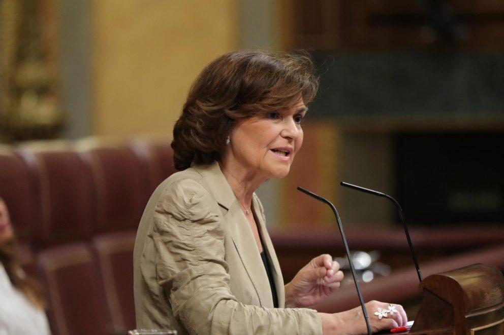 Carmen Calvo, vicepresidenta del Gobierno @EP