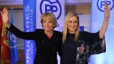 Esperanza Aguirre y Cristina Cifuentes. (Foto. PP)