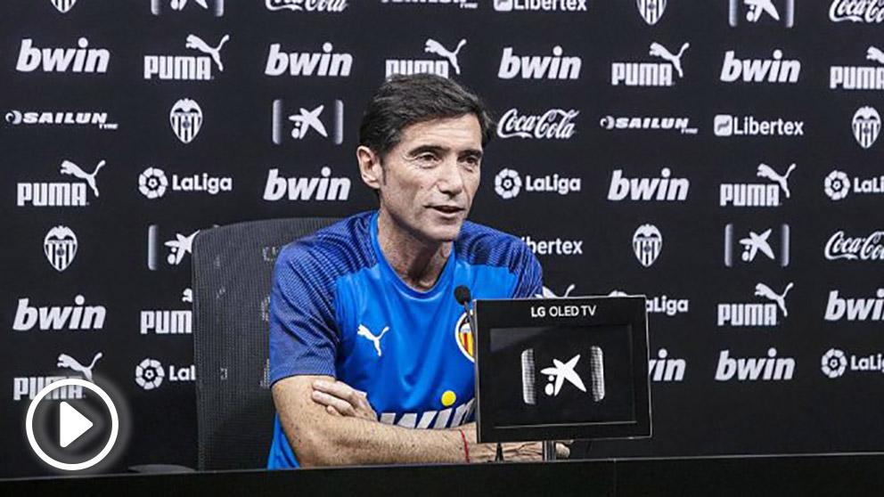 Marcelino García Toral, técnico del Valencia, en rueda de prensa (Valencia Club de Fútbol)