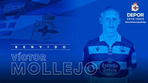 Víctor Mollejo, nuevo fichaje del Deportivo (@RCDeportivo)
