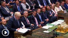 Boris Johnson en el Parlamento británico. Foto: Europa Press
