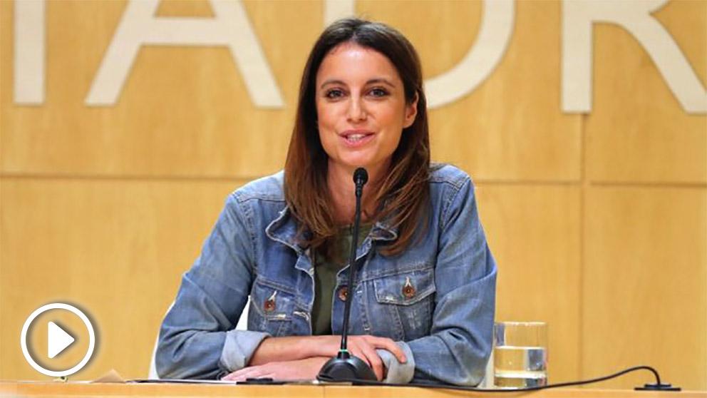 Andrea Levy en una rueda de prensa en el Palacio de Cibeles. (Foto. Ayuntamieto de Madrid)