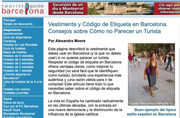 """Una guía alerta a los visitantes de Barcelona de la inseguridad: «No os vistáis como turistas"""""""