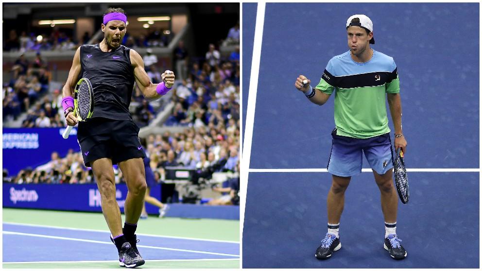 Rafael Nadal y Diego Schwartzman. (Getty)