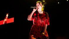 Billie Eilish durante su concierto en el Palau Sant Jordi de Barcelona. Foto: EFE