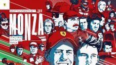 El cartel de Ferrari celebrando su 90º aniversario. (@ScuderiaFerrari)