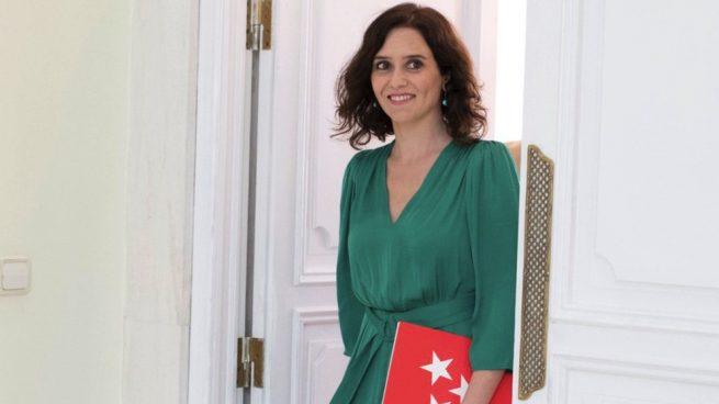 Íñigo Errejón Isabel Díaz Ayuso en la Puerta del Sol. (Foto. Comunidad)