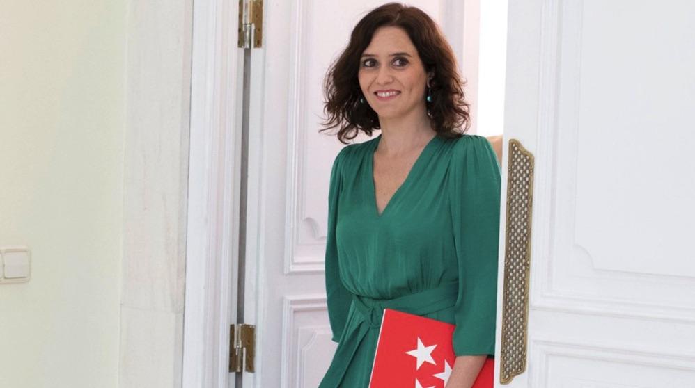 Isabel Díaz Ayuso en la Puerta del Sol. (Foto. Comunidad)