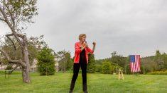 La senadora estadounidense y candidata demócrata a la Casa Blanca Elizabeth Warren @Hiromi