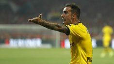 Paco Alcácer con el Borussia Dortmund (AFP)