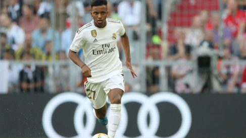 Rodrygo Goes durante un partido de pretemporada con el Real Madrid. (Getty)