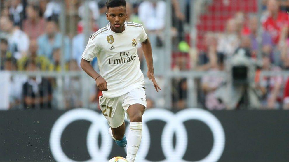 Rodrygo Goes durante un partido de pretemporada con el Real Madrid. (Getty)