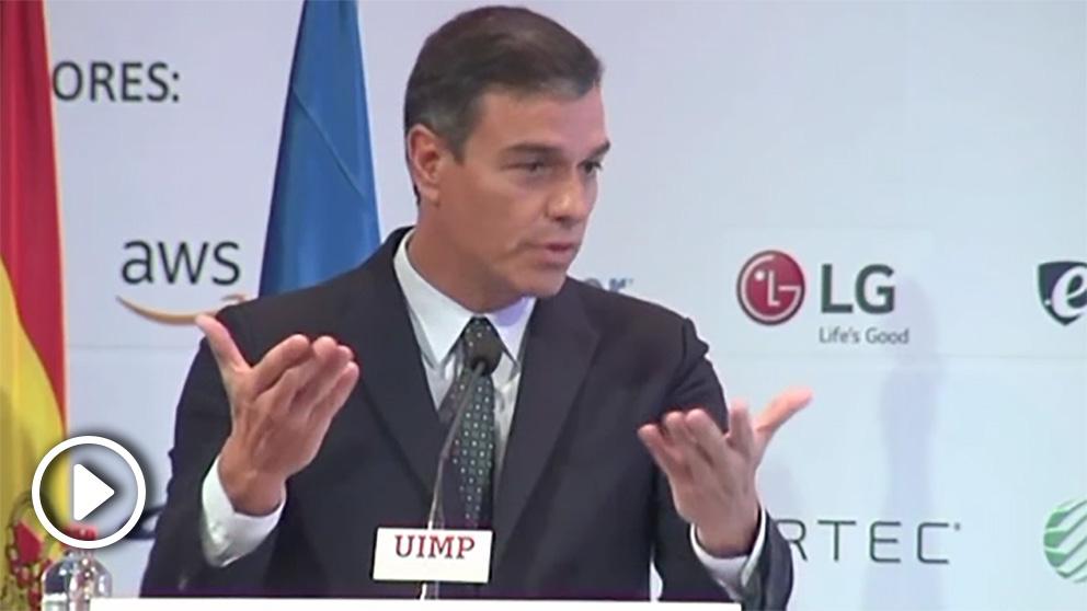 Pedro Sánchez en la Universidad Menéndez Pelayo