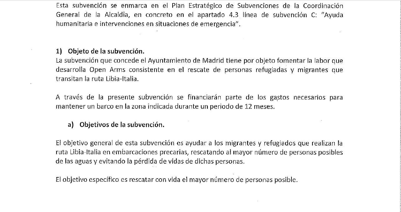 """Carmena y Colau dieron 700.000 € públicos a Open Arms para el """"rescate de inmigrantes» contraviniendo a la UE"""