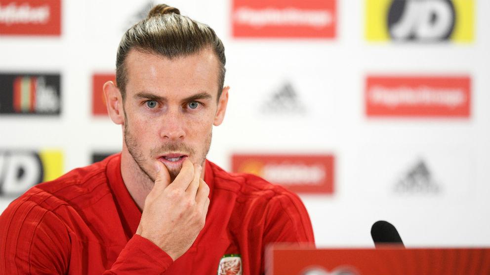 Bale, en rueda de prensa con la selección de Gales. (Getty)