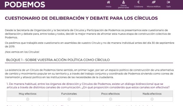 Alerta en Podemos: envía un examen a su militancia para intentar atajar su desmovilización