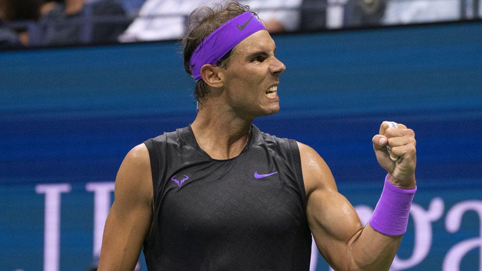 Nadal-celebra-un-punto-durante-el-partido-de-cuartos-de-final-en-el-US-Open-(AFP)