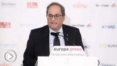 Quim Torra en los Desayunos de Europa Press @EP