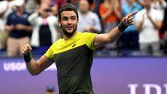 Matteo-Berretini-tras-su-victoria-ante-Monfils-en-cuartos-de-final-del-US-Open-(Getty)