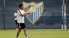 Víctor Sánchez del Amo con el Málaga (AFP)