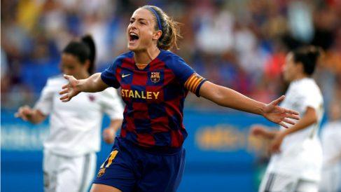 Alexia Putellas celebra un gol ante el Tacón. (EFE)