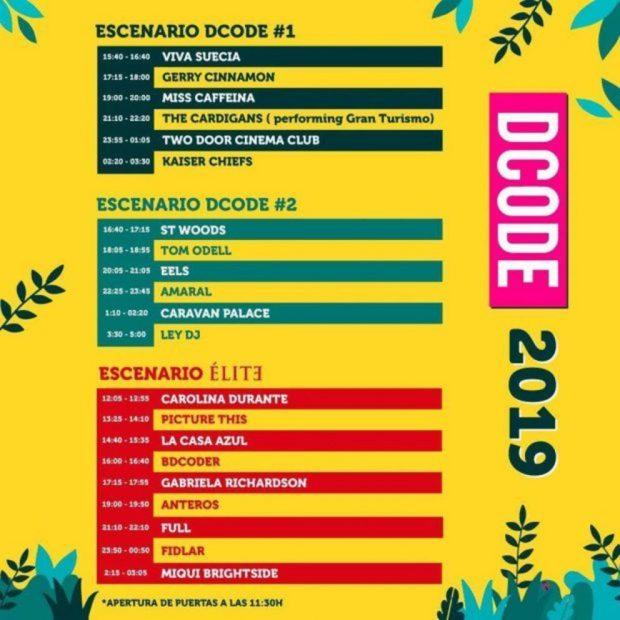 DCODE 2019: Horarios, escenarios y artistas del festival