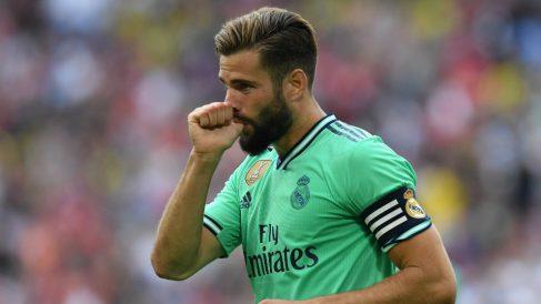 Nacho Fernández celebra un gol con el Real Madrid (AFP)