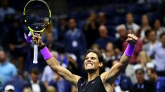 Rafa Nadal celebra su triunfo frente a Berrettini en el US Open. (AFP)