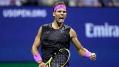 Rafael Nadal celebra un punto en el US Open. (Getty)