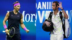 Rafael Nadal y Daniil Medvedev. (Getty)