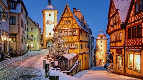 Esta calle alemana parece una preciosa postal