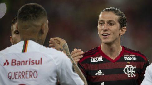 Filipe Luís con el Flamengo (AFP)