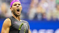 Rafael Nadal celebra un punto.