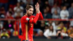 Sergio Ramos, durante un partido con España. (EFE)