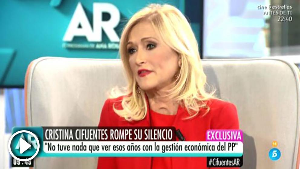 Cristina Cifuentes, en Ana Rosa.