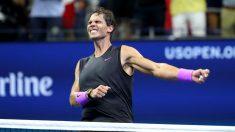 Rafa Nadal, tras ganar el US Open. (Getty)