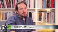 Pablo Iglesias, secretario general de Podemos, en su entrevista en 'Russia Today'.
