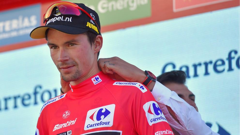 Primoz Roglic, líder de la Vuelta a España. (AFP)
