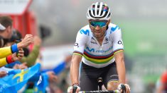 Alejandro Valverde, en la subida a La Cubilla. (AFP)