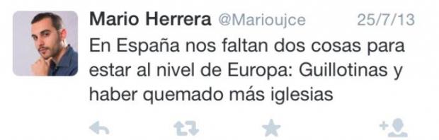 El podemita que pidió «guillotinas y quemar más iglesias» premiado con sueldo publico de 65.000 € en La Rioja