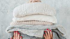 Pasos para hacer una manta con jerséis viejos
