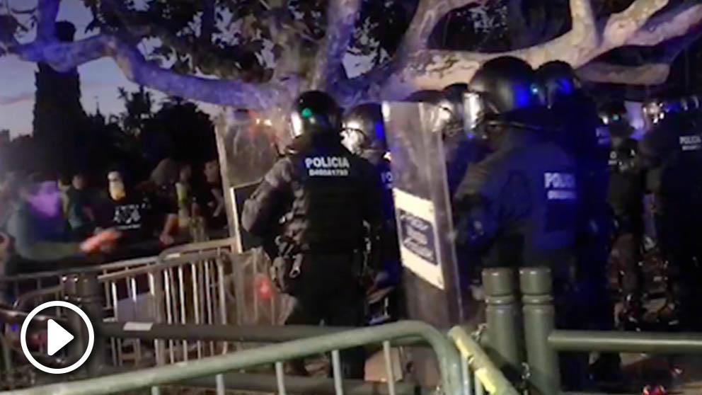 Incidentes en el Parlament de Cataluña