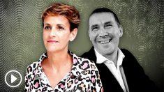 María Chivite y el líder de Bildu, Arnaldo Otegi