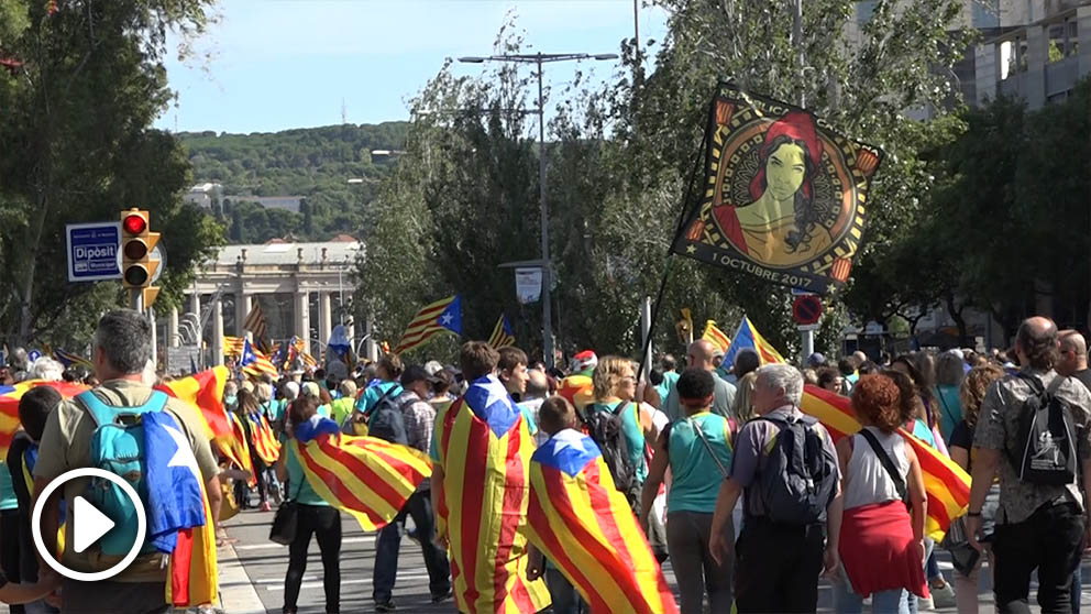 Ambiente en las calles de la Diada de Cataluña 2019 @OKDIARIO