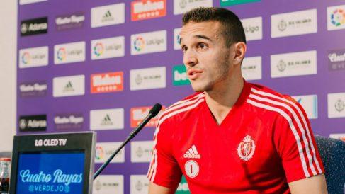 Jordi Masip en rueda de prensa (Real Valladolid)